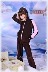 Велюровый костюм от тм Little Winners для стильных школьниц
