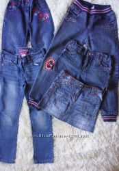 Джинсовая одежда европ. брендов на девочку 6-7лет