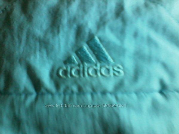 Adidas яркая качественная зимняя термошапка ушанка  на 3-6 лет оригинал