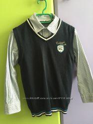 Рубашка и жилетка комплект для мальч. Palomino р. 122