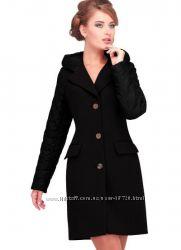 Новое демисезонное черное пальто тм Nui Very р. 48-50