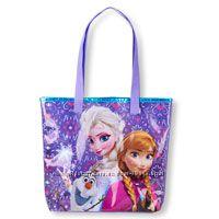 сумка пляжная с Эльзой и Анной  Чилдренплейс. Идеальный подарок для девочки