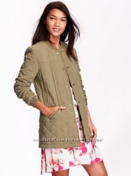 � ������� Long Quilted Bomber Jacket