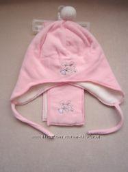 Флисовые деми наборы от C&A Германия шарфик и шапочка мальчик и девочки