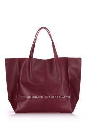 Кожаная сумка  модного цвет марсала