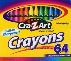 Восковые мелки Crayons 64 шт. набор с точилкой