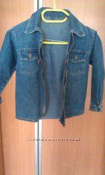 Джинсовая рубашка мальчику р 116-122