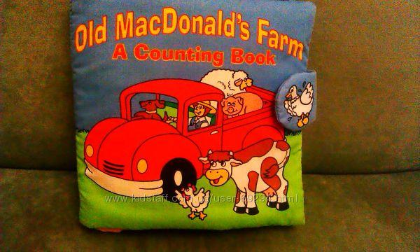 Мягкая развивающая книжка-игрушка ферма старого Макдональдса
