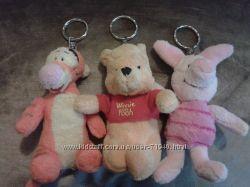 Мягкие игрушки-брелки Винни, Тигра, Пятачок