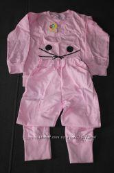 Розовая пижама с мордочкой котика 110р.