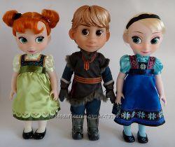 Куклы Анна, Эльза, Кристофф от DISNEY. Холодное сердце. Оригинал.