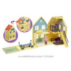 Игровой набор Peppa - Загородный дом Пеппы - домик с мебелью, 2 фигурки