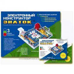 Электронный конструктор Знаток для мальчиков Школа 999 схем арт. REW-K007