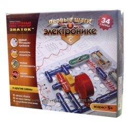 Электронный конструктор Знаток для мальчиков 34 схемы набор С арт. REW-K062