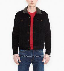 Мужская зимняя вельветовая куртка на меховой подкладке Levis