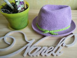Шляпа лен-хлопок