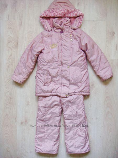Раздельный зимний комплект. Комбез и куртка Amadeo, р. 134 Польша