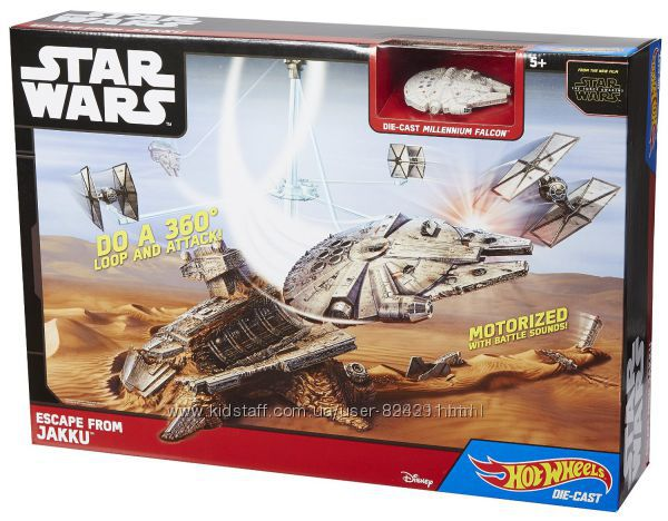 Трек Hot Wheels  серии Star Wars Escape  и Death Star Battle Blast Track