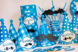 Первый усатый день Рождения мальчика кенди-бар  -- Little Man Мustaches --