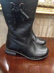 Кожаные демисезонные сапожки Zara 15 см