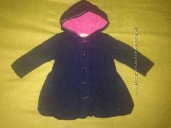 Пальто для девочек на флисе 12-18мес