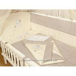 Детское постельное белье в кроватку Вышивка Песик- 9 предметов