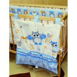 Карманы навесной с карманчиками, для детской кроватки