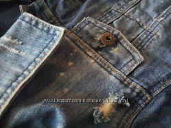 Клевая джинсовая курточка размер м-л