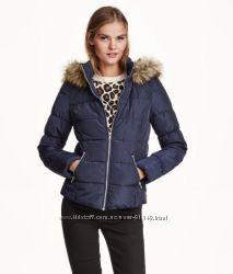 Красивая демикуртка H&M, размер 8, темно-синяя, в наличии