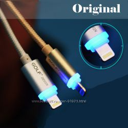 Golf кабель 8 pin - USB c LED для iPhone 6, 5, 5S