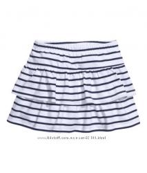 Трикотажная юбка H&m 128 размер на 7-8 лет