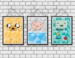 Постеры Время Приключений Adventure Time