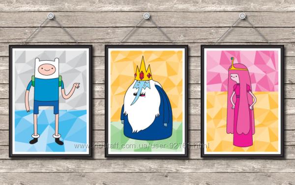 Постеры Adventure Time Время Приключений