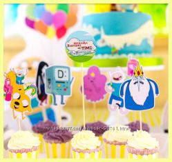 Атрибутика сладкого столаВремя приключений Adventure Time
