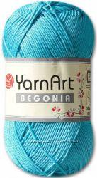 Летняя пряжа Yarn Art Begonia мерсеризованный хлопок