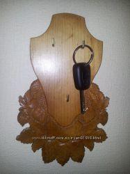 ключница дерево резьба ручная работа