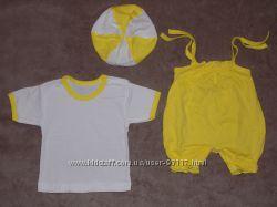 Новые летние комплекты с беретом для малышей в наличии