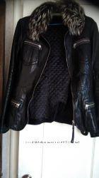 Женская курточка кожаная