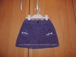 Стильная вельветовая юбочка тм Girandola р 104-110-116