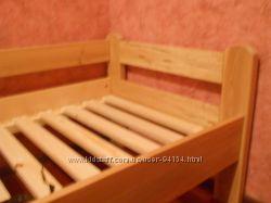 Детская подростковая кровать Ушастик 80 на 160 натуральное дерево