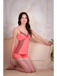 Пижама женская. М-10 персик Violet delux