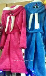Махровые халаты удобные и теплые. Качество - супер. В наличии. Зайка. Ушки.