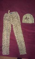 Скинни джинсы и шапочка 122-128 рост