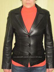 Срочно Кожаный пиджак в отличном состоянии 44р.