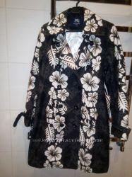 Пальто-плащ Burberry, котон, размер С-М