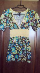 яркая летняя блуза для беременной S-M