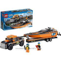 Конструктор Лего LEGO City 60085 Внедорожник 4x4 с гоночным катером