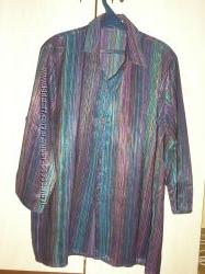 Блуза, рубашка Очень необычной расцветки.