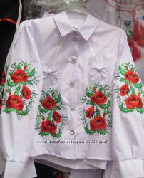 Рубашки-вышиванки для девочки до 158р. Добавила новые модели.