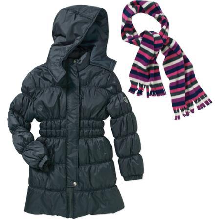 Куртка деми  с шарфом